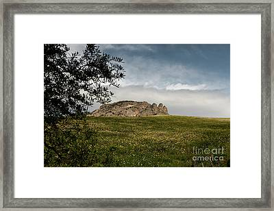 Italy, Calabria, Cimina,the Three Fingers Framed Print