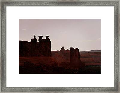 The Three Gossips Arches National Park Utah Framed Print by Christine Till