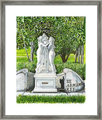 The Three Graces Framed Print by Warren Day