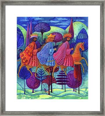 The Three Kings Christmas Framed Print by Jane Tattersfield