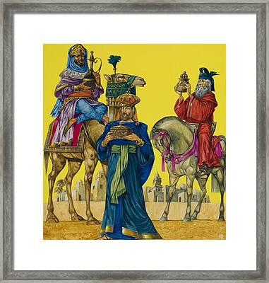 The Three Kings Framed Print by Richard Hook