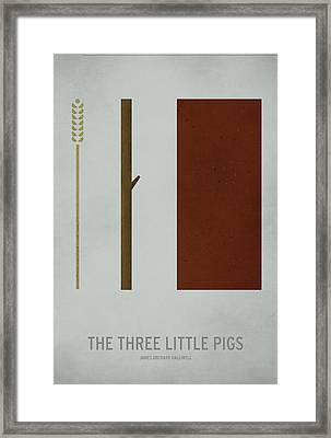The Three Little Pigs Framed Print by Christian Jackson