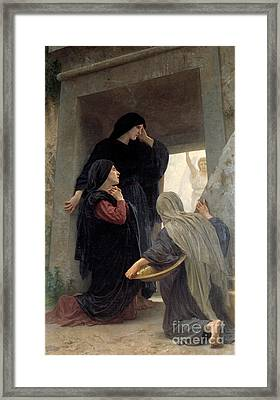 The Three Marys At The Tomb Framed Print by Celestial Images