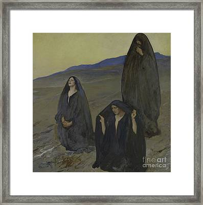 The Three Marys Framed Print by Edwin Austin Abbey