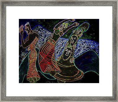 The Three Of Bells Framed Print by Chris Vannoy