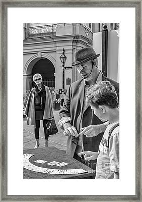 The Three Of Hearts- Nola Framed Print by Kathleen K Parker