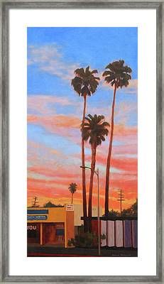 The Three Palms Framed Print