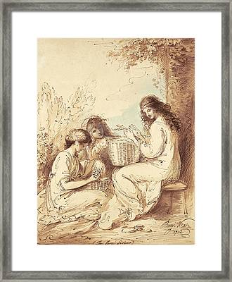 The Three Sisters  Framed Print by Benjamin West