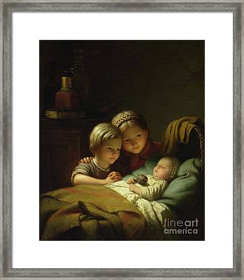 The Three Sisters Framed Print by Johann Georg