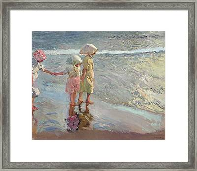 The Three Sisters On The Beach Framed Print