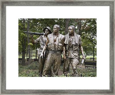 The Three Soldiers By Frederick Hart Framed Print by Everett