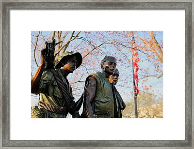 The Three Soldiers Framed Print by Mitch Cat