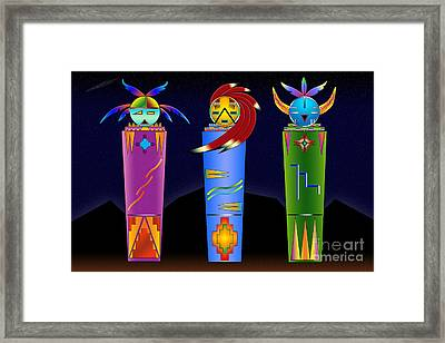 The Three Spirits Framed Print
