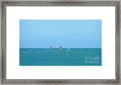 The Three Surfers Framed Print
