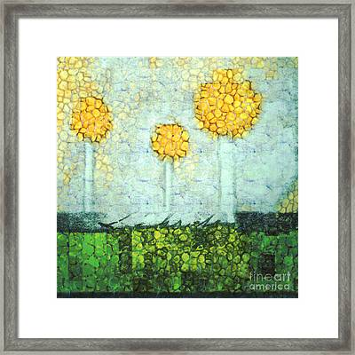 The Three Trees - Y2901b Framed Print by Variance Collections