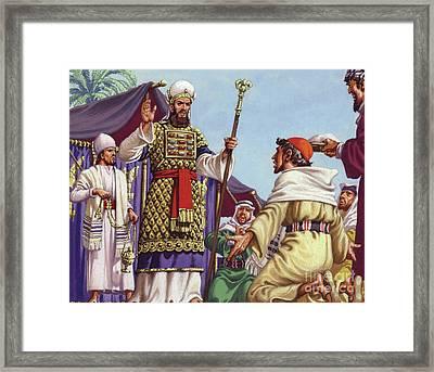 The Three Wise Men Asking Herod Framed Print