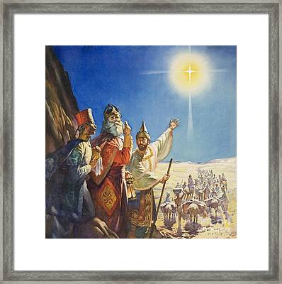 The Three Wise Men  Framed Print by James Edwin McConnell