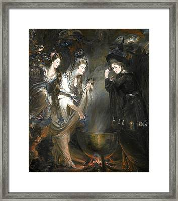 The Three Witches From Macbeth Framed Print by Daniel Gardner
