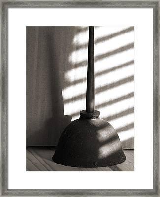Thumb Press Oil Can Framed Print by Sandra Church