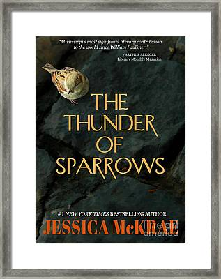 The Thunder Of Sparrows Book Cover Framed Print