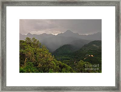 The Thunder Rolls Framed Print