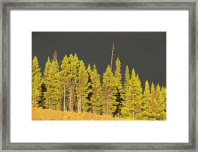 The Thunderstorm Has Passed Framed Print