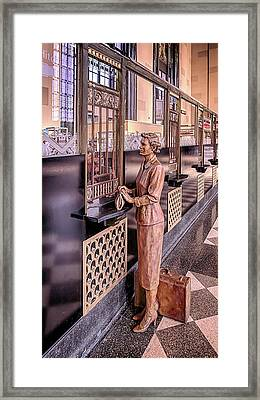 The Ticket Counter Framed Print by Susan Rissi Tregoning