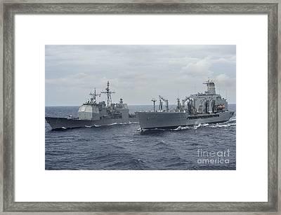The Ticonderoga-class Guided-missile Cruiser Uss Antietam Framed Print by Celestial Images