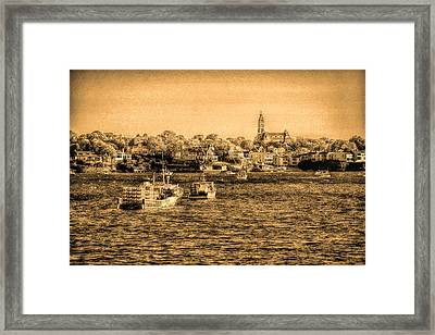 The Tide Flows Into The Harbor Framed Print