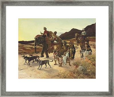 The Tiger Hunt Framed Print by Eastern Accent