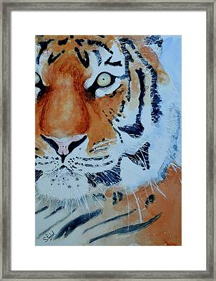 Framed Print featuring the painting The Tiger by Steven Ponsford