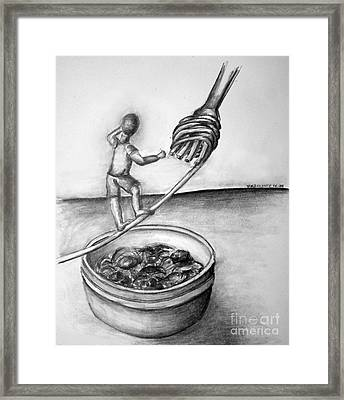 The Tightrope Framed Print by Tracy Glantz