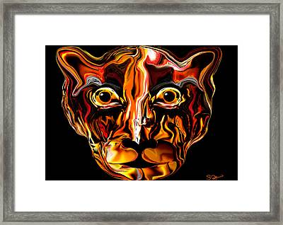 The Tigress. Framed Print by Abstract Angel Artist Stephen K