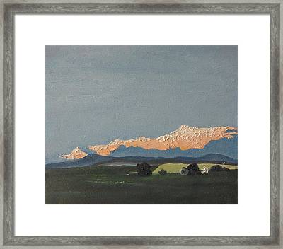 The Tilted Cloud Framed Print by Francois Fournier