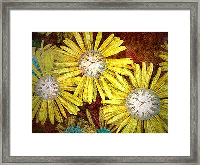 The Time Flowers Framed Print by Tara Turner