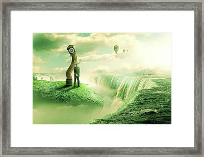 Framed Print featuring the digital art The Time Keeper by Nathan Wright