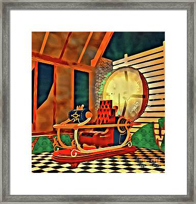 The Time Machine Framed Print by Raphael Terra