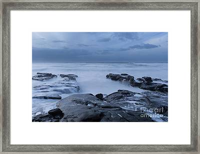 The Time To Stare At The Ocean Framed Print by Masako Metz