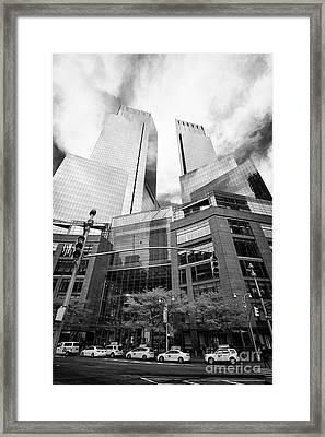 The Time Warner Center New York City Usa Framed Print