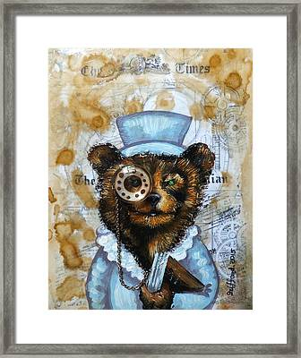 The Times Bear Framed Print