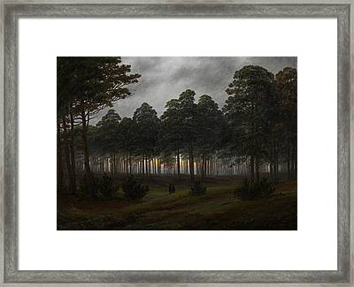 The Times Of Day - The Evening Framed Print