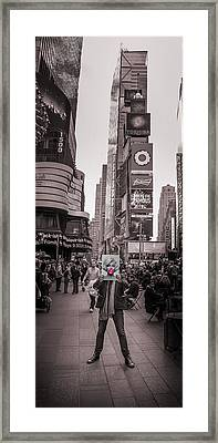 The Times Of Marilyn Framed Print by Az Jackson