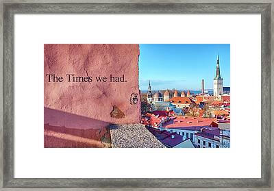 Framed Print featuring the photograph The Times We Had by Fabrizio Troiani