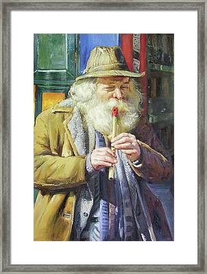 The Tin Whistle Framed Print by Conor McGuire