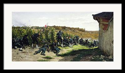 Infantryman Paintings Framed Prints