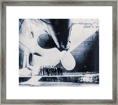 The Titanic's Propeller In The Thompson Graving Dock Of Harland And Wolff, Belfast Framed Print by English School