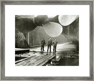 The Titanic's Propellers In The Thompson Graving Dock In Belfast Framed Print