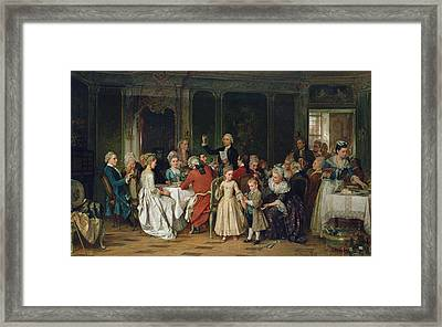 The Toast To The Bride, 1870  Framed Print
