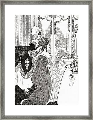 The Toilet After Aubrey Beardsley. From Framed Print