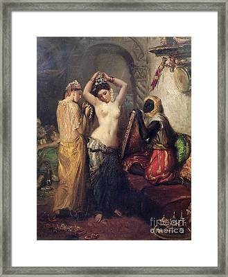 The Toilet In The Seraglio Framed Print